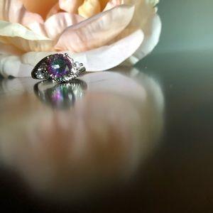 Jewelry - 2/$28 Mystic Topaz Silver Ring Sz 6 NWOT